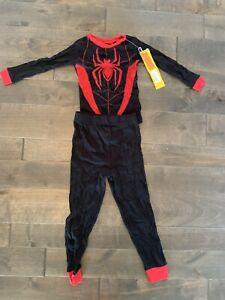 Marvel Spider-Man Tops & Bottoms Pajama Set (Shirt Size 4) (Pants Size 6)