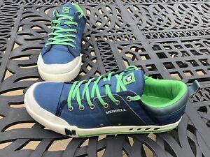 Merrell Rant Majolica Blue casual canvas shoes.