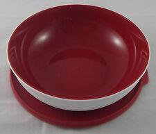 Tupperware C 153 Allegra 740 ml Schüssel Rot / Weiß Deckel mit Lasche Neu OVP