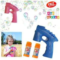 Bubble Gun Shooter - Machine Bubbles Kids Party Light Gift UK