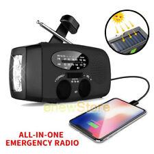 Solar Emergency High Power Hand Crank AM/FM/WB Radio LED Torch Power Bank SOS A+