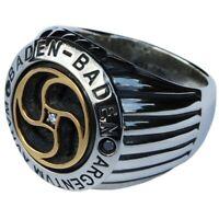RING ROUEN - ARGENTVM AVRVM. Sterlingsilber 925 & Gold 18K. DIAMANTEN.