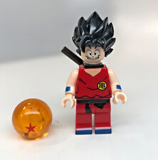 Custom Lego Print minifigure GOKU Saiyan from Dragon Ball figure with black hair