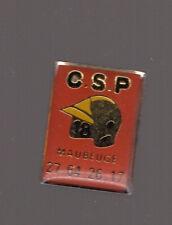 Pin's Pompier 18 / CSP Catégories SocioProfessionnelles de Maubeuge