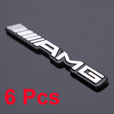 6ps Alloy AMG Steering Wheel Sticker Badge Emblems Aluminium For All Type