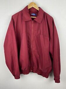 Arrow USA Mens Harrington Bomber Jacket Size XL Full Zip Collar Lined Red