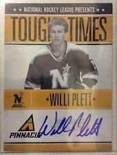 2010-11 Panini Pinnacle Willi Plett Tough Times Autograph #133/250