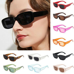 Retro Vintage Fashion Rectangle Square Sunglasses Shades Women Ladies UV400 Hot