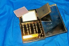 Vintage Ladies Cigarette Case Compact Powder Mirror Old Purse Vanity Women's Box