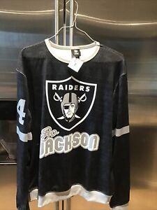 NWT NFL OAKLAND RAIDERS  Men's Jersey Shirt #34 Bo Jackson, Large, $80.00