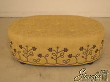 39295: High Quality Custom Made Upholstered Decorator Ottoman Or Coffee Table