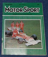 Motor Sport February 1974 Vauxhall Magnum 2300 Estate, Jensen Interceptor