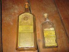 2 pcs Vintage Watkins Lemon Extract Bottle Imitation Vanilla Extract Bottle