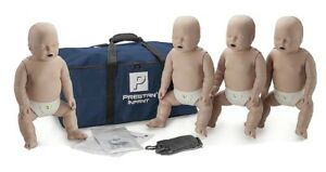 Prestan Infant CPR Training Manikin with CPR Rate Monitor 4 Pack