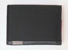 Tumi Brand Mens L-Fold Black Wallet Card Case Canvas RFID Protection $100 NWT
