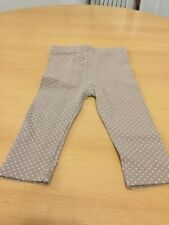 Girls Beige/Brown And White Spots Leggings From Tu Age 9-12 Months
