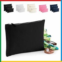 CANVAS ACCESSORY CASE 100% Brushed Cotton Canvas with Metal Zip - WESTFORD MILLS