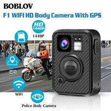 BOBLOV 2K 1440P Wearable Body Camera 64G GPS 8-10H Recording For Law Enforcement