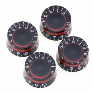 Red Black Electric Guitar Speed Knobs for USA Les Paul Imperial Inch LP