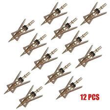"12 PCs New Archery Official Hypodermic Broadheads 2 Blade 100 Grain 2.3"" Cut"