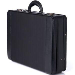 Alpine Swiss Expandable Attache Case Dual Combination Lock Hard Side Briefcase