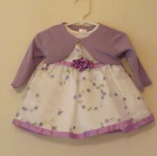 Youngland, white & lavender party dress and bolero, age 6 to 9 months