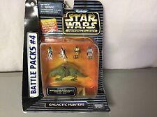 Star Wars Micro Machines Action Fleet Battle Packs #4 Galactic Hunters 1996 #55R