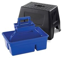 LITTLE GIANT DURA TOTE STOOL Step Stool & Tote Box in One Holds 300lbs. Blue