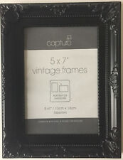 """BLACK PICTURE/PHOTO FRAME SHABBY CHIC FRENCH RETRO STYLE-SIZES 6x4"""" 7x5"""" 10x8"""""""
