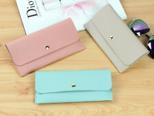 New Wallet for Woman Pu Leather Lady Fashion Long Clutch Little Girls Purse Pink