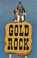 NC, North Carolina   GOLD ROCK MOTEL~RESTAURANT  I-95 Road Sign  Chrome Postcard