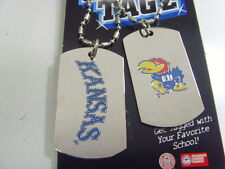 Kansas Jayhawks sports dawg tagz necklace key chain set collegiate ncaa 49427