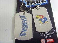 Kansas Jayhawks sports dawg tagz necklace key chain set collegiate ncaa 49435