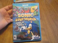 Sonic Lost World -- Deadly Six Bonus Edition NINTENDO WII U NEW SEALED RARE