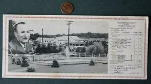 1951 Kidron Ohio Agricultural Inspection advertising ink blotter- Pool Fountain!