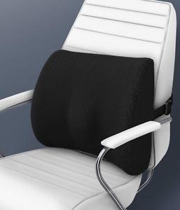 Office Chair Back Cushion Memory Foam Lumbar Support Posture Corrector Seat UK