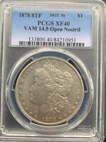 1878 8TF Morgan Silver Dollar PCGS XF40 Ultra Rare VAM 14.5 HOT 50 Unknown in BU