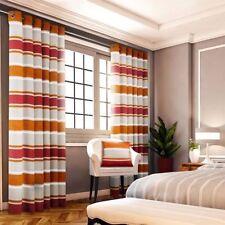 Rideaux et cantonnières orange en polyester pour la maison