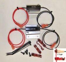 50w 6 ohm Load Resistors Black & E -Flasher  2 LED Bulbs Kit for Hyper Flash