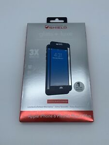 Zagg Invisible Shield Glass+ Luxe Screen Protector iPhone 6 6s 7 Plus - Black