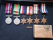 WWII MEDAL GROUP OF 6 WITH 8TH ARMY BAR - ABBOTT