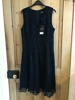NEXT Black Lace Shift DRESS Lined UK 14 / Eur 42 / Regular NEW with TAGS