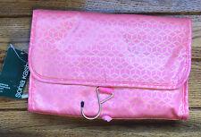 SONIA KASHUK Hanging Travel ORGANIZER Storage Bag Toiletry Makeup CORAL