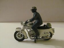 Britains Motorcycle - Police Patrolman on White Triumph Thunderbird - Some Wear