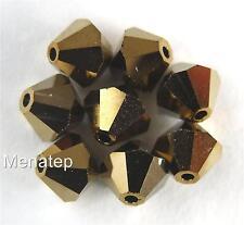 5 6 mm Swarovski 5301 Bicones - Crystal Dorado 2X(Please Read Item Description)