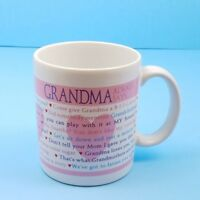 Hallmark Grandma Always Says Coffee Mug Glass Tea Cup Love Grandchildren Gift