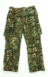Cabelas ScentLok Camo Heavy Fleece Cargo Hunting Pants 38 Reg Mens Scent Lok
