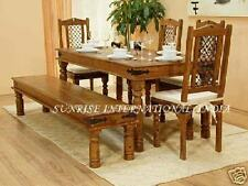 Wooden Dining Set ( 1 table , 4 chairs , 1 bench )
