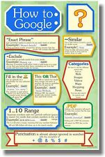 How to Google 2 - NEW Classroom Motivational Poster