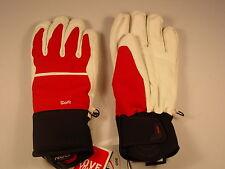 NEW Reusch Stormbloxx Softshell&Leather Ski Gloves Medium 8.5 MEADOW 2887124 Red